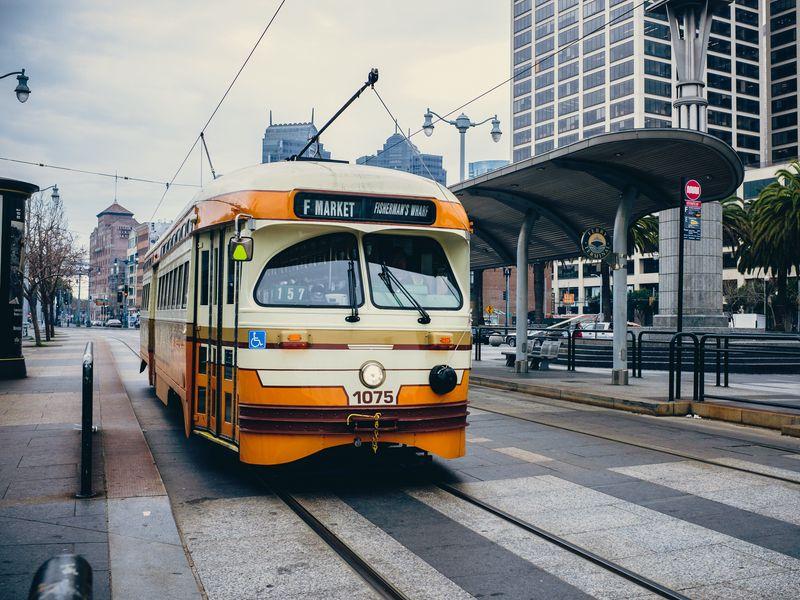 White spots on public transport